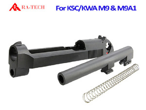 RA-KSC/KWA M9 CNC Steel metal slide & Outer barrel