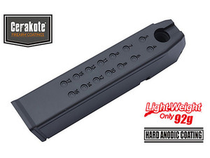가더 Aluminum Magazine Case for MARUI G17/18C/22/34 (9mm/Black)